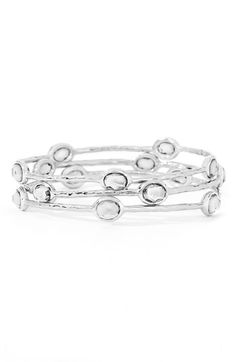 Love these  Ippolita 'Rock Candy' 5-Stone Sterling Silver Bangle available at #Nordstrom