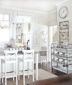 Home Interior Living Room Pretty Functional: Out of the Ordinary Storage Solutions Budget Kitchen Remodel, Kitchen On A Budget, Kitchen Remodeling, Kitchen Ideas, Kitchen Inspiration, Cozinha Shabby Chic, Thistlewood Farms, Farmhouse Kitchen Decor, Farmhouse Blogs