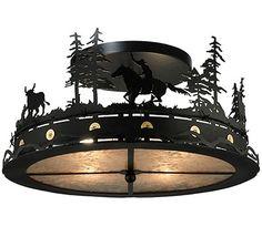 Cowboys & Steers Drop Ceiling Mount