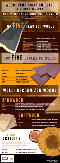 Charles and Ray knowledge of wood properties guided their choice of woods for their molded plywood designs Wood Identification Guide - A Secret Weapon Woodworking Techniques, Woodworking Tips, Green Woodworking, Diy Wood Projects, Wood Crafts, Wood Wood, Mesquite Wood, Wood Creations, Types Of Wood