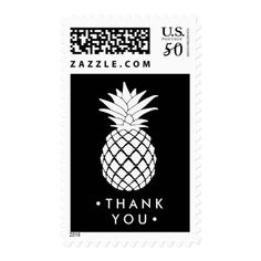 Pineapple   Your Text Postage