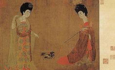 https://flic.kr/p/6rT2xx | 唐-周昉-簪花仕女图1 | Painted by the Tang Dynasty artist Zhou Fang 周昉.