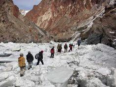 Chadar Trek on frozen river in Ladakh India