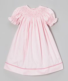 Take a look at this Pink Geometric Bishop Dress - Infant, Toddler & Girls on zulily today!