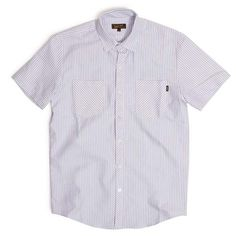 Nautical Oxford Stripe Blue Short-Sleeve