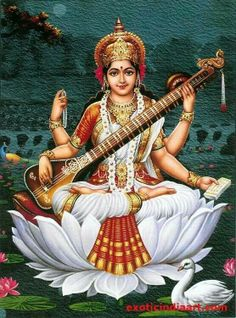 Sarasvatī सरस्वती, Sarasvatī - Goddess of Knowledge, Wisdom & Art