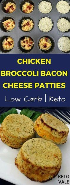 Chicken Broccoli Bacon Cheese Patties Keto Recipe