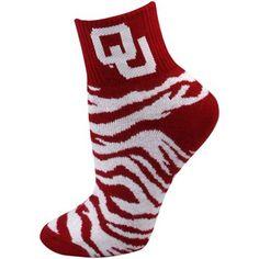 My favorite socks.... OU Zebra socks....love them!!