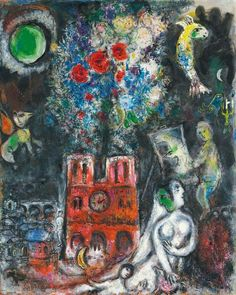 Marc Chagall - L'Arbre de Jessé, 1960. Oil on canvas, 150.5 x 120.2 cm. (59 1/4 x 47 3/8 in.).