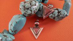 Modern Swinging Rhodochrosite, Semi Precious Gemstone, Sterling, Post Earrings by shopnestandcompany on Etsy