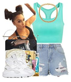 """""""."""" by trillest-queen ❤ liked on Polyvore featuring Topshop and NIKE"""