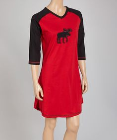 Another great find on #zulily! Red Moose Raglan Nightgown - Women #zulilyfinds