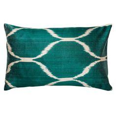 Green Ikat Diamond Dot Pillowcase - Simple Life Istanbul