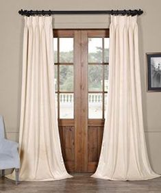 Shop for Exclusive Fabrics Signature Pinch-pleated Blackout Solid Velvet Curtain Panel. Get free delivery at Overstock - Your Online Home Decor Outlet Store! Get in rewards with Club O! Curtains 1 Panel, Pleated Curtains, Hanging Curtains, Blackout Curtains, Window Curtains, Bedroom Curtains, Curtain Panels, Layered Curtains, Curtains Living