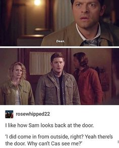 "10.8k Likes, 36 Comments - Its A Supernatural life (@watchoutforsammyx) on Instagram: ""LOOOL THIS IS SOO FUNNY"""