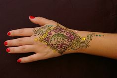 Colorful henna