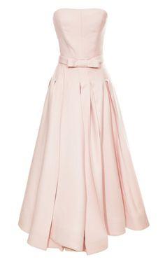 Shop Wrap Box Pleat Swing Dress by Katie Ermilio for Preorder on Moda Operandi