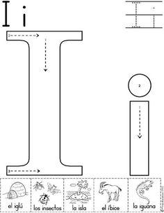 letra i fichas del abecedario y el alfabeto para descargar gratis para imprimir de niños