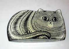Vintage Abraham Palatnik Lucite Cat, Large Tabby, Mid-Century Modern, made in Brazil, on eBay.com from eBay user transitionssales, ($224.99 + shipping, 4/12/14)