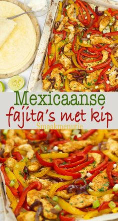 Mexicaanse fajita's met kip - Mexican Cooking, Mexican Food Recipes, Healthy Recipes, Ethnic Recipes, Tapas, Good Food, Yummy Food, Tortilla Wraps, Always Hungry