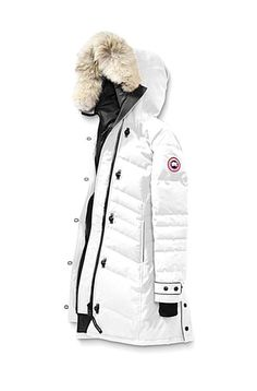 Conquer fluctuating temperatures in style with a sophisticated parka with elaborate quiltthrough detailing. Tighten the adjustable drawcord hood to keep brisk winds out. Cheap Canada Goose, Canada Goose Women, Canada Goose Parka, Canada Goose Jackets, Canada Canada, Raincoats For Women, Jackets For Women, Army Jacket Outfits, Cheap Rain Jackets