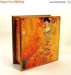 Christmas Sale Jewelry Box Wood Large Tea by ArtKaleydoskop2015