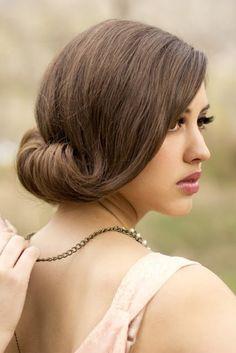 www.weddbook.com everything about wedding ♥ Old Hollywood Glam Wedding Hairstyle   http://weddbook.com/media/804080