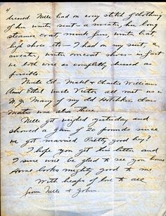 Titanic John Snyder wrote this after being rescued from the Titanic Page 4 0f 4