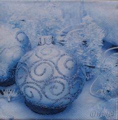 Купить салфетка для декупажа Новогодние шары снежинки салфетка декупаж - разноцветный, салфетка декупаж