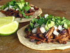 TACOS DE BARBACOA  ~  Barbacoa is succulent beef that is slow-simmered in a spicy broth flavored with tangy lime juice, smoky chipotle chiles and plenty of garlic until it's practically falling apart.