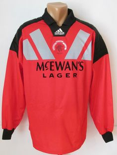 Rangers 1992 1993 1994 goalkeeper football shirt soccer jersey adidas  42-44