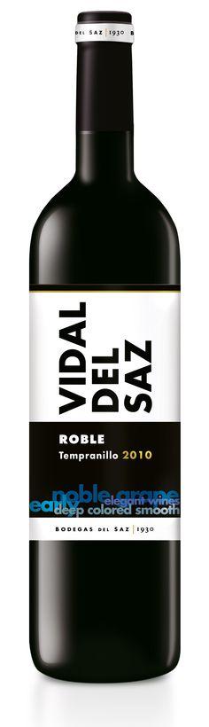 Vidal del Saz, Roble•Tempranillo.  Bodegas del Saz.