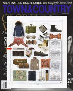 Taigan Berti Knives cigar cutter in @Town & Country Magazine