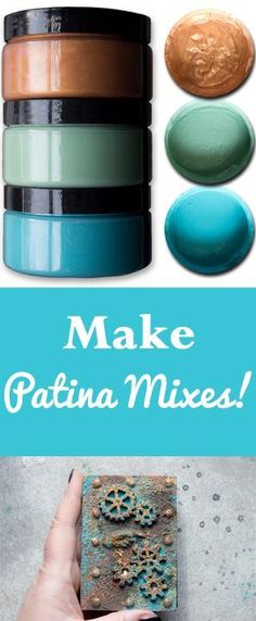 Make Patina Mixes! With Heather Tracy for Graphics Fairy. Great craft technique for making your own grungy patina solutions!