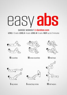 Easy Abs is a relatively easy workout by Darebee designed to help your abs get stronger. Power Workout, Easy Ab Workout, Six Pack Abs Workout, Abs Workout Routines, Gym Workout Tips, Abs Workout For Women, Ab Workout At Home, Fitness Workouts, Workout For Beginners