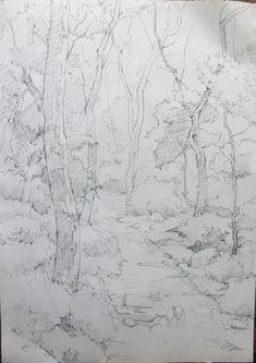 [풍경수채화] 숲길 - 수채화과정 : 네이버 블로그