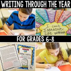 Arts And Crafts For Kindergarten 6th Grade Writing, Middle School Writing, Middle School English, Middle School Classroom, High School, Writing Lessons, Teaching Writing, Writing Activities, Writing Ideas