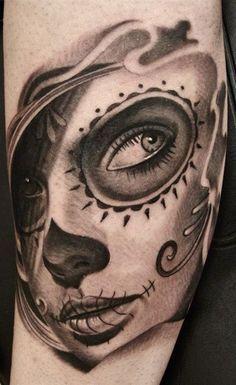 Black and gray leg tattoo #TattooModels #tattoo