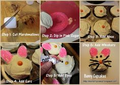 Easter Treats - Bunny Cupcakes (step by step)