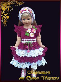 ВЯЗАНЫЙ ЭКСКЛЮЗИВ ОТ ОЛЬГИ ИЩЕНКО! — МОИ РАБОТЫ крючком для ДЕТОК! | OK.RU Crochet Baby Dress Pattern, Crochet Baby Clothes, Hello Kitty Dress, Crochet Toddler, Craft Items, Baby Knitting, Doll Clothes, Dresses, Doll Outfits