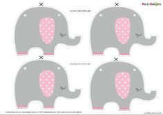 Free printable baby shower bunting - perfect for an elephant baby shower. Choose from pink or blue.
