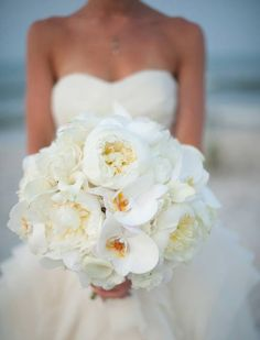 from for - Wedding Dresses & More - White Orchid Bouquet, Orchid Bouquet Wedding, Rustic Bridal Bouquets, Wedding Flower Guide, Bride Bouquets, Whimsical Wedding Flowers, White Wedding Flowers, Bridal Flowers, Wedding Trends