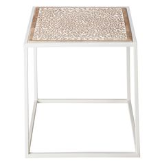 A BREATH OF EXOTICISM Delicacy and refinement are the order of the day for the AGRA side table in mango wood and white metal with its subtly exot Nesting Tables, Side Table, Mango Wood, Furniture, Home Accessories, Table, Metal End Tables, White Metal, Home Decor