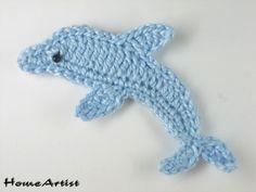 Delfin Häkelapplikation häkel - Freie Farbwahl von Home Artist auf DaWanda.com