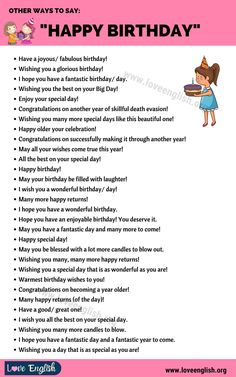 English Vocabulary Words, Learn English Words, English Phrases, Best Birthday Wishes Quotes, Happy Birthday Quotes For Friends, Bff Quotes, Words Quotes, Korean Writing, Other Ways To Say