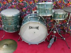 Kings Stone Drums - Made In Japan by Star Vintage Drums, Drum Kits, Drummers, Percussion, Music Stuff, Music Instruments, King, Japan, Stone
