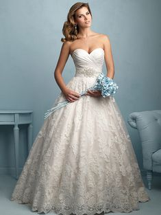 @Bellethemagazine wedding dresses | Allure Bridals 2015 Collection | Floor Ivory Ball Gown Sweetheart $$ ($1,001-2,000)