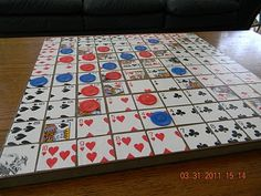Awesome Homemade Sequence Game!                                                                                                                                                                                 More