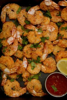 Crumbed Prawns with Desiccated Coconut and Spices - a simple, easy to make crunchy prawn starter for your next party - thespiceadventuress.com