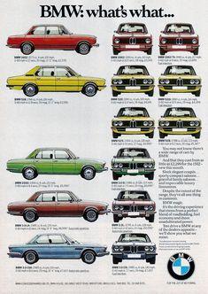 1975 BMW CAR RANGE ADVERT